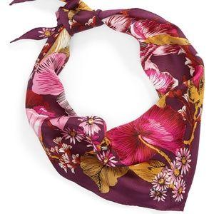 Echo Mumbai Floral Silk Kite Diamond Bandana Scarf
